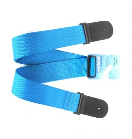 Aroma - Capella CM472-BLU Woven Koton Mavi Gitar Askısı