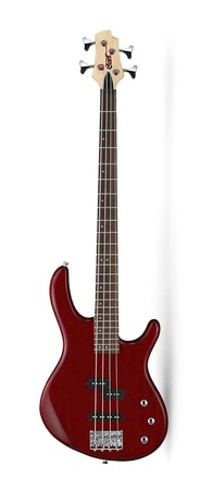 Cort - Cort Action Serisi AB4PJOPBC Open Pore Black Cherry Bas Gitar