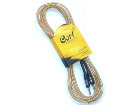 Cort CA525NAT Nude 5 Metre Düz Altın Uçlu Transparan Enstrüman Kablosu