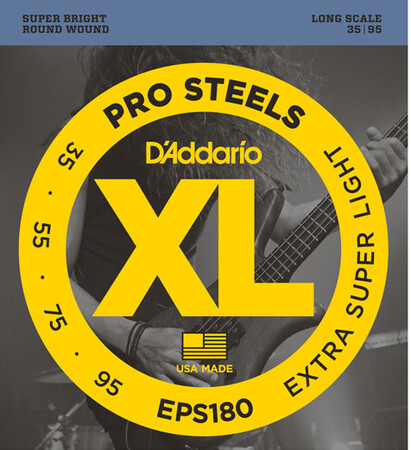 D-Addario - D'Addario EPS180 4 Telli Bas Gitar Tel Takımı Long Scale (35-95)