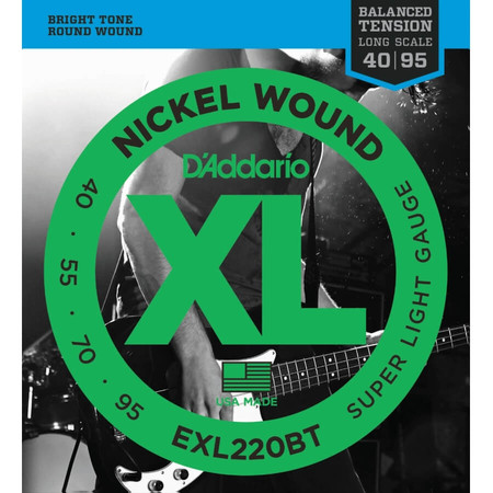 D-Addario - D'Addario EXL220BT 4 Telli Bas Gitar Tel Takımı Balanced Tension (40-95)