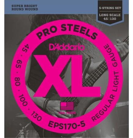 D-Addario - D'Addario EPS170-5 5 Telli Bas Gitar Tel Takımı Long Scale (45-130)