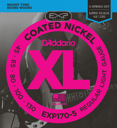 D-Addario - D'Addario EXP170-5 5 Telli Bas Gitar Tel Takımı Long Scale (45-130)