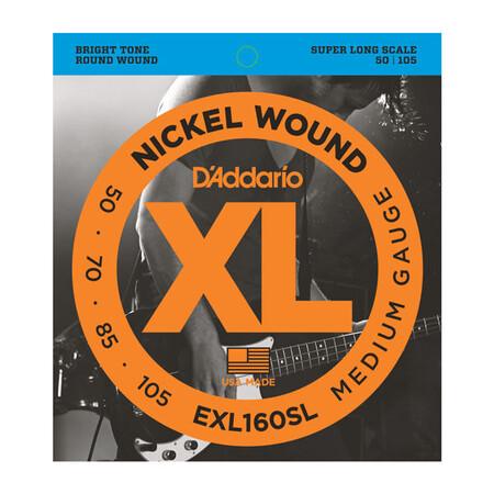 D-Addario - D'Addario EXL160SL 4 Telli Bas Gitar Tel Takımı Super Long Scale (50-105)