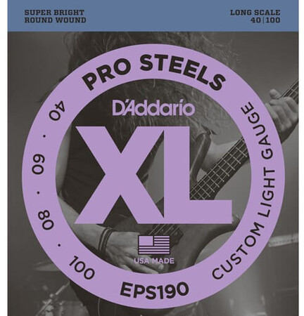D-Addario - D'Addario EPS190 4 Telli Bas Gitar Tel Takımı Long Scale (40-100)