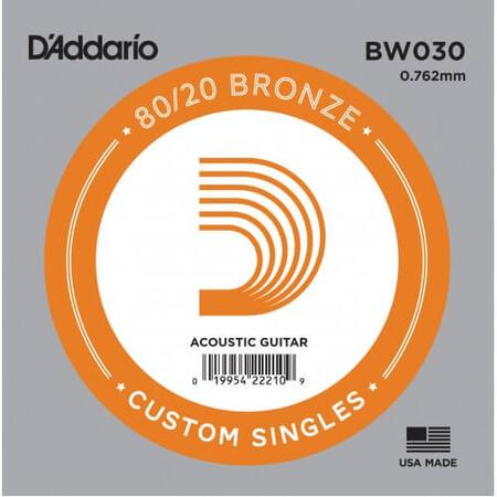 D'Addario BW030 Bronze Wound Akustik Gitar Tek Tel