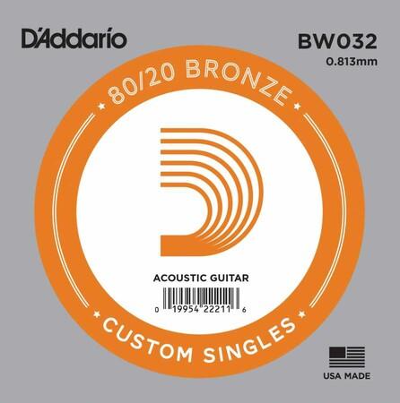 D'Addario BW032 Bronze Wound Akustik Gitar Tek Tel