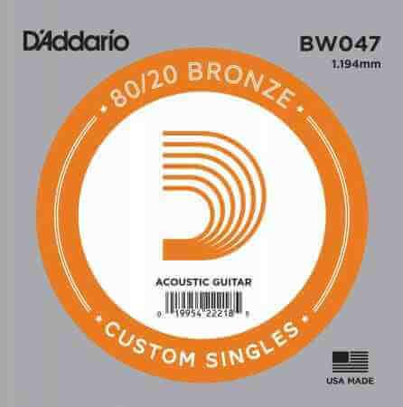 D-Addario - D'Addario BW047 Bronze Wound Akustik Gitar Tek Tel