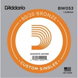 D'Addario BW053 Bronze Wound Akustik Gitar Tek Tel