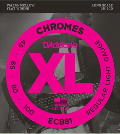 D-Addario - D'Addario ECB81 (45-100) Chromes 4 Telli Bas Gitar Teli