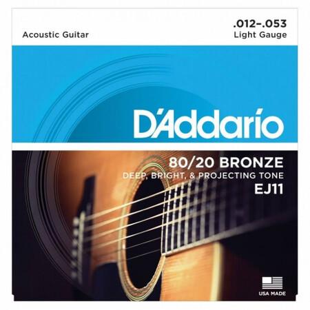 D-Addario - D'Addario EJ11 80/20 Bronze Akustik Gitar Teli (012-053)