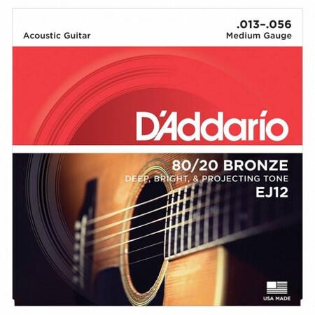 D-Addario - D'Addario EJ12 80/20 Bronze Akustik Gitar Teli (013-056)
