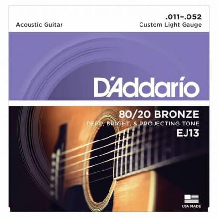 D-Addario - D'Addario EJ13 80/20 Bronze Akustik Gitar Teli (011-052)