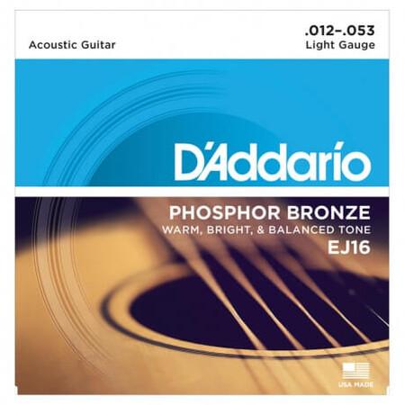 D-Addario - D'Addario EJ16 Phosphor Bronze Akustik Gitar Teli (012-053)