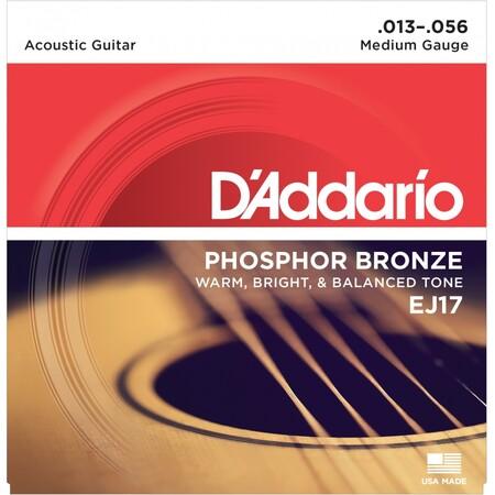D-Addario - D'Addario EJ17 Phosphor Bronze Medium, 13-56 Akustik Gitar Tel Takımı
