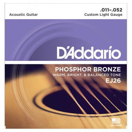 D'Addario EJ26 Phosphor Bronze Akustik Gitar Seti (011-052)