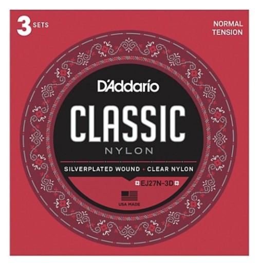 D'Addario EJ27N-3D Klasik Gitar Teli 3'lü Set