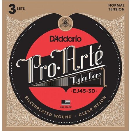 D-Addario - D'Addario EJ45-3D Pro-Arte 3'lü Klasik Gitar Tel Seti