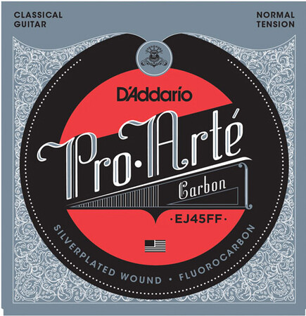 D-Addario - D'Addario EJ45FF Pro-Arté Carbon, Dynacore Basses, Normal Tension Klasik Gitar Takım Tel