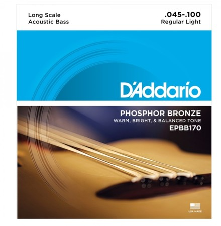 D-Addario - D'Addario EPBB170 Long Scale Akustik Bas Gitar Teli (045-100)