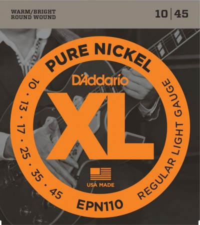 D-Addario - D'Addario EPN110 Regular Light Pure Nickel Elektro Gitar Tel Takımı(10-45)