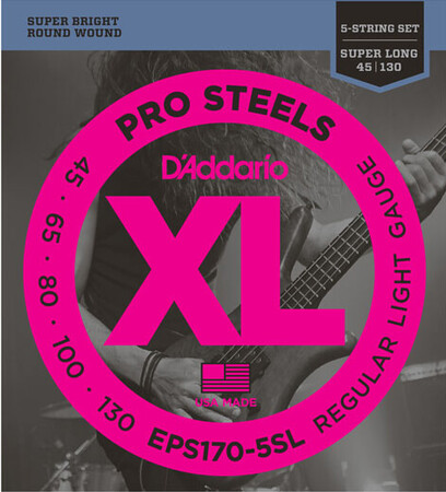 D-Addario - D'Addario EPS170-5SL /45-130) ProSteels 5 Telli Bas Gitar Teli
