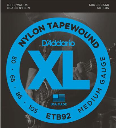D-Addario - D'Addario ETB92 (50-105) Tapewound 4 Telli Bas Gitar Teli