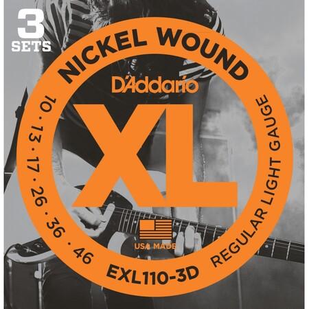D-Addario - D'Addario EXL110-3D Elektro Gitar Teli 3'lü Set