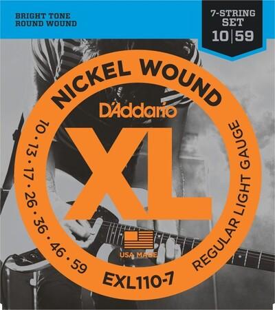 D-Addario - D'Addario EXL110-7 Nickel Wound 7 Telli Elektro Gitar Tel Takımı