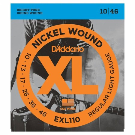 D'Addario EXL110 Nickel Wound Regular Elektro Gitar Teli (010-046)