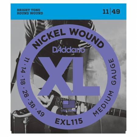 D-Addario - D'Addario EXL115 Blues / Jazz Nickel Wound Elektro Gitar Teli (011-049)