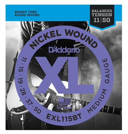 D'Addario EXL115BT Nickel Wound Balanced Tension Medium Parlak Tone (11-50)