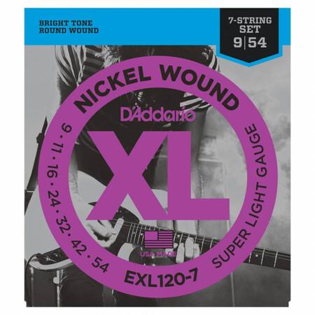 D-Addario - D'Addario EXL120-7 7 Telli Elektro Gitar Teli (009-054)