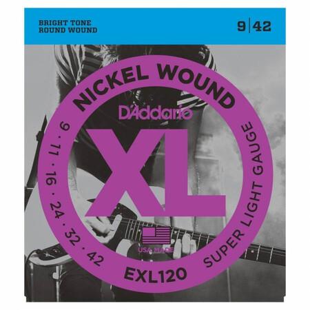 D'Addario EXL120 Nickel wound Regular Elektro Gitar Teli (009-042) - Thumbnail