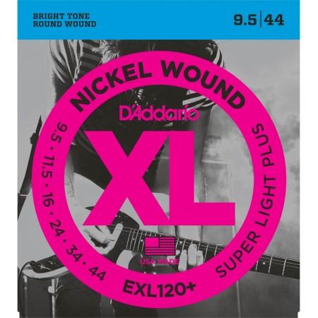 D-Addario - D'Addario EXL120+ Nickel Wound Süper Light Plus Elektro Gitar Teli (09.5-044)