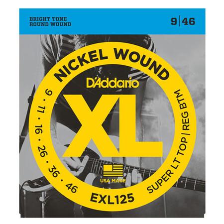 D'Addario EXL125 Nickel Wound Elektro Gitar Teli (09-046) - Thumbnail