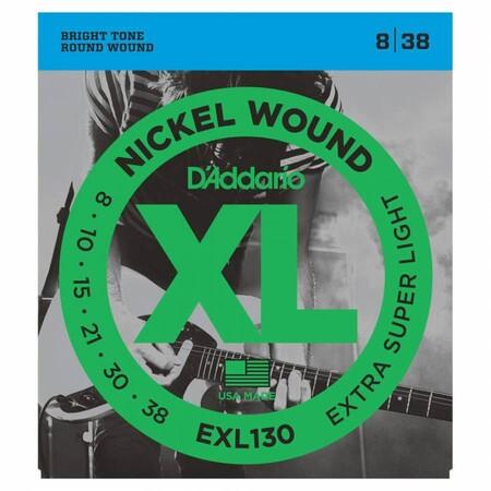 D'Addario EXL130 Nickel Wound Elektro Gitar Teli (008-032) - Thumbnail