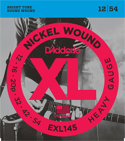 D'Addario EXL145 Nickel Wound Elektro Gitar Teli (12-54)