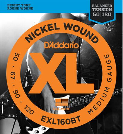 D-Addario - D'Addario EXL160BT (50-120) Nickel Wound 4 Telli Bas Gitar Teli