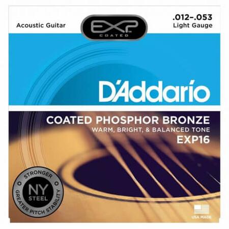 D'Addario EXP16 Coated Phosphor Bronze Akustik Gitar Teli (012-053)