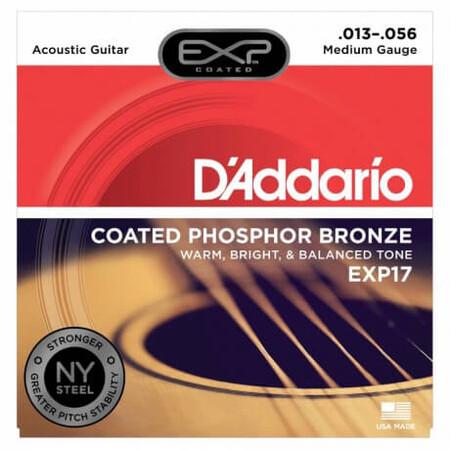 D'Addario EXP17 Coated Phosphor Bronze Akustik Gitar Teli (013-056)