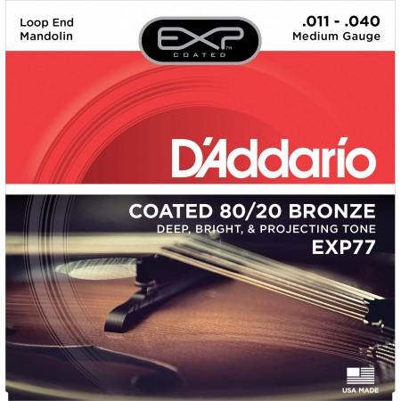 D'addario EXP77 Bronze Mandolin Teli