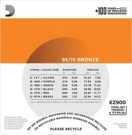 D'Addario EZ900 - Extra Light 10-50 Akustik Gitar Tel Takımı - Thumbnail