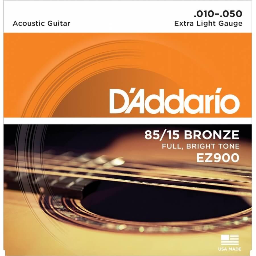 D'Addario EZ900 - Extra Light 10-50 Akustik Gitar Tel Takımı