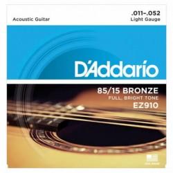 D-Addario - D'Addario EZ910 85/15 Bronze Akustik Gitar Teli (011-052)