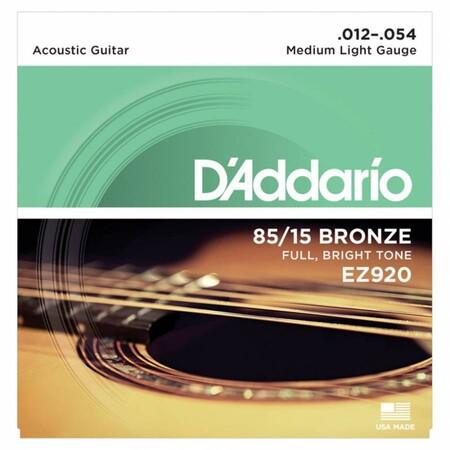 D-Addario - D'Addario EZ920 Full Bright Tone 12-54 Akustik Gitar Tel Takımı