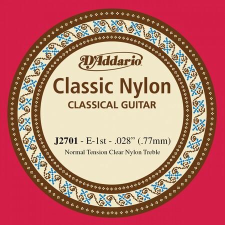 D-Addario - D'Addario J2701 Klasik Gitar Tek İnce Mi Teli