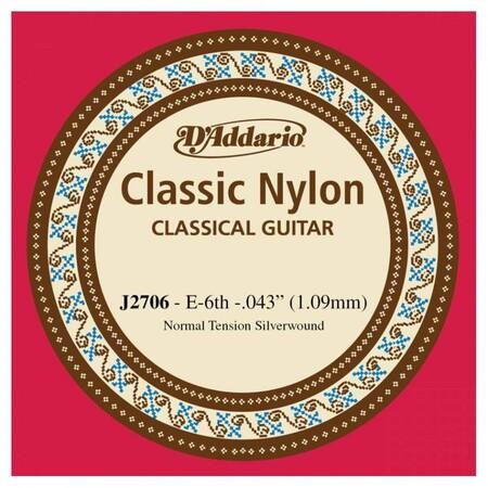 D-Addario - D'Addario J2706 Klasik Gitar Tek Kalın Mi Teli