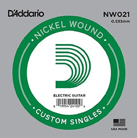 D'Addario NW021 Nickel Wound Elektro Gitar Tek Tel