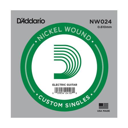 D'Addario NW024 Nickel Wound Elektro Gitar Tek Tel